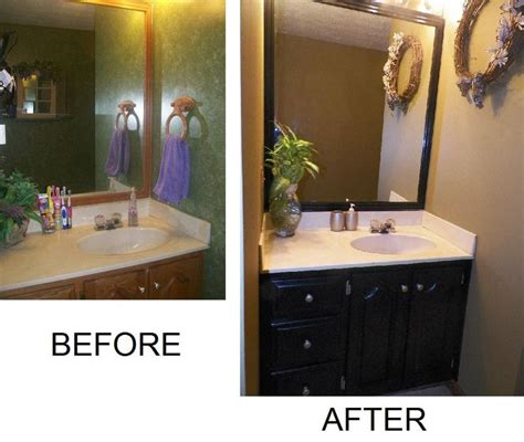 how to paint a bathroom vanity black bathroom cabinets makeover my first grown up diy project