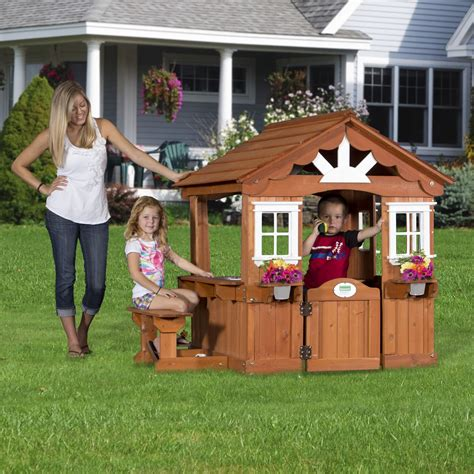 Backyard Discovery Scenic Playhouse by Cheap Shopping Backyard Discovery Scenic All Cedar