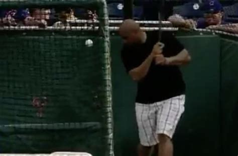 charles barkley swing charles barkley s baseball swing is almost as bad as his