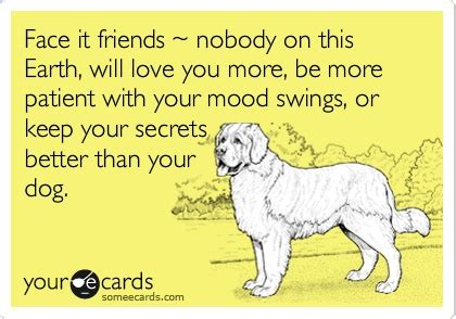 dog mood swings face it friends nobody on this earth will love you more