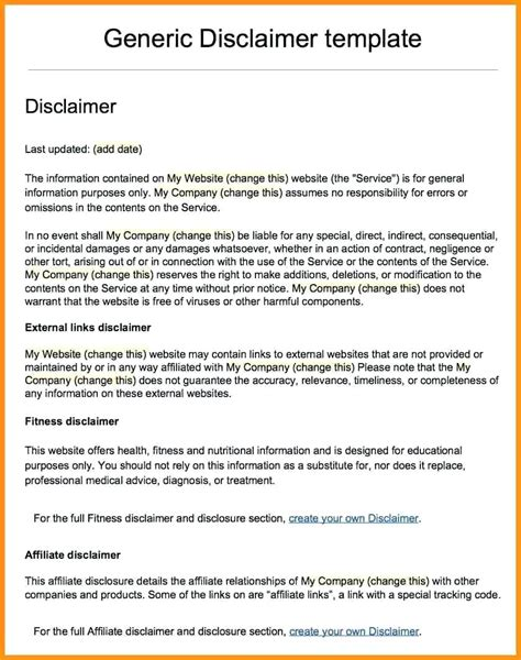 Template Disclaimer Template Letter Ls Accounting Payroll Services L Business Cost Summary Financial Advice Disclaimer Template