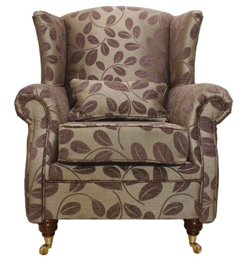 Fireside Armchair by High Back Wing Chair Fireside Armchair Orchard Leaf