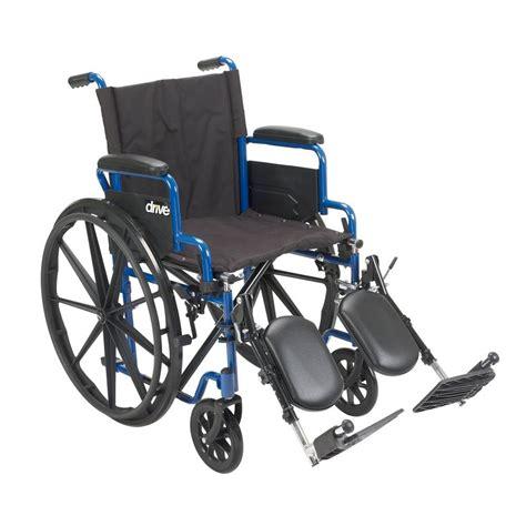 elevate leg at desk drive 16 in blue streak wheelchair with flip back desk