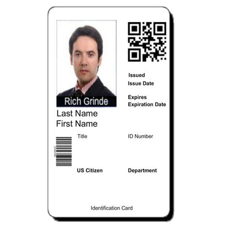 employee badge template id card templates from idcreator call 855 make ids