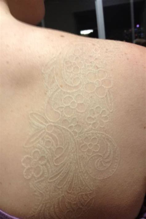 white tattoo on dark skin healed white ink on skin