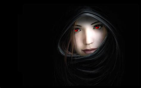 wallpaper girl dark women dark mouth red eyes artwork noses hooded witches