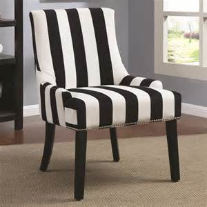Black And White Striped Accent Chair Black White Stripe Armless Upholstered Chair Ebay