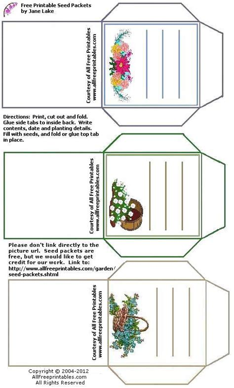 printable garden images printable seed packets craftbnb