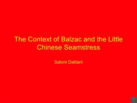 balzac and the little balzac and the little chinese seamstress context