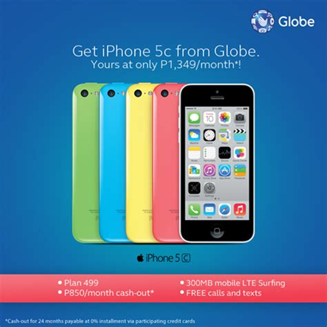 3 iphone plans iphone 5c and 5s offered globe plan 499 and 999 for 24 months howtoquick net