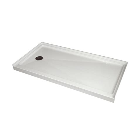 30 inch base acri tec single threshold retro fit shower base with left