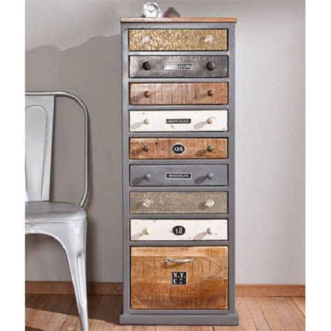 grey wood filing cabinet cabelo grey and solid wood finish 9 chest