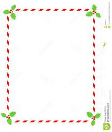 candy cane border with holly stock vector image 6400871