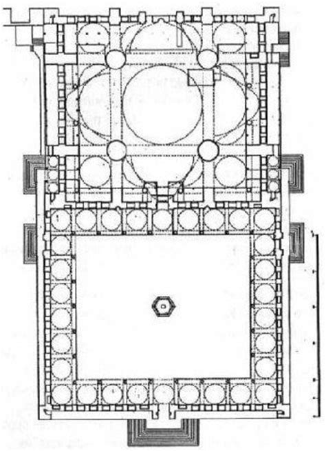 Blue Mosque Floor Plan | blue mosque plan se 231 tiklerim pinterest blue mosque