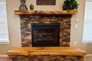 Shiplap Pine Siding Photo 36085 Reclaimed Hardwood With Live Edge Mantel