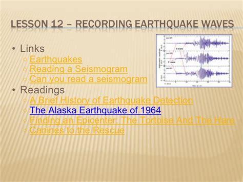 earthquake unit earthquakes unit presentation