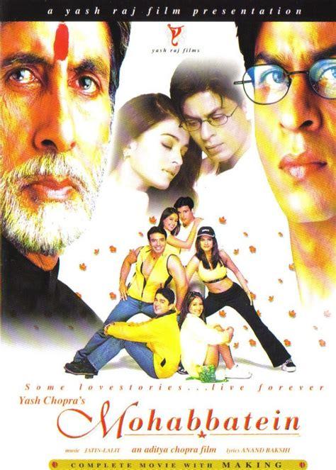 film india sharukhan mohabbatein 2000 shahrukh khan hindi movie posters