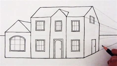 Drawing House by 3d Perspective House Drawing Pencil How To Draw A Room In