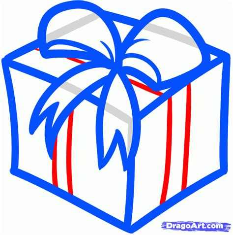 christmas drawing step by step and gift to gift cartoon how to draw a gift step by step stuff seasonal free drawing