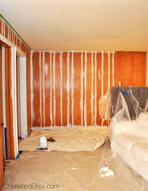 paint wood paneling white how to paint wood paneling cherished bliss
