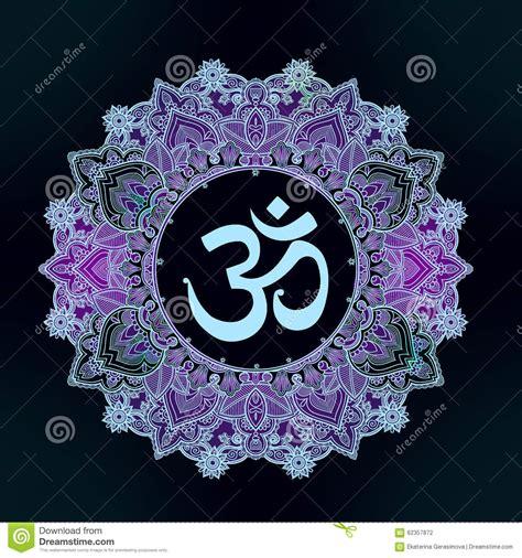 lord ganesha om mandala symbol stock vector image 62357872