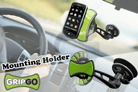gripgo car mobile smartphone mountable holders stand