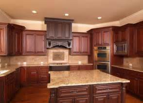 nice Types Of Kitchen Cabinets #1: Cherry-Wood-Kitchen-Cabinets-Colors.jpg