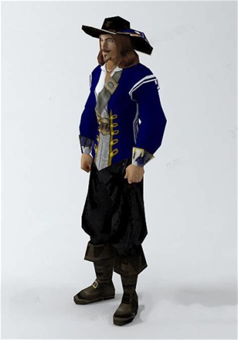 pirate man 3d model 3D Model Download,Free 3D Models Download