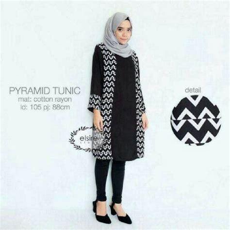 Atasan Wanita 36 Lina Top Fit To L Baby Teryrs jual harga piramyd tunik baju hitam murah baju muslim atasan wanita zero2fifty