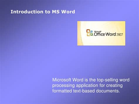 microsoft word 2010 an introduction tutorial 1 of 2 2010 01 introduction to ms word2007