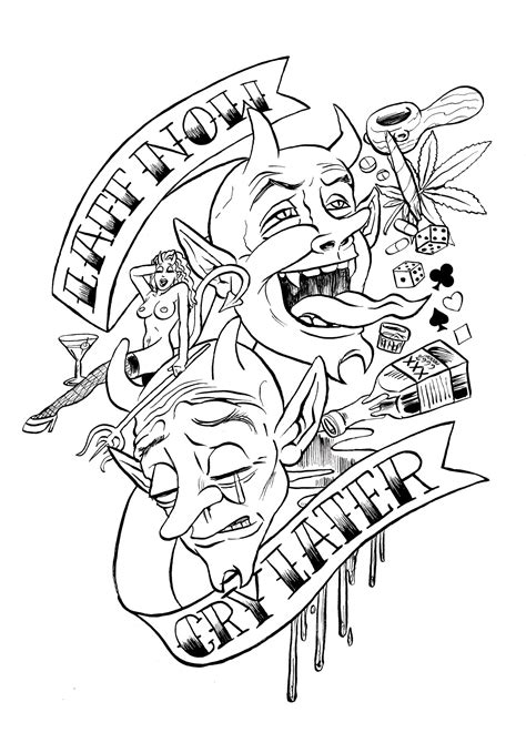 free coloring pages of men with tattoos