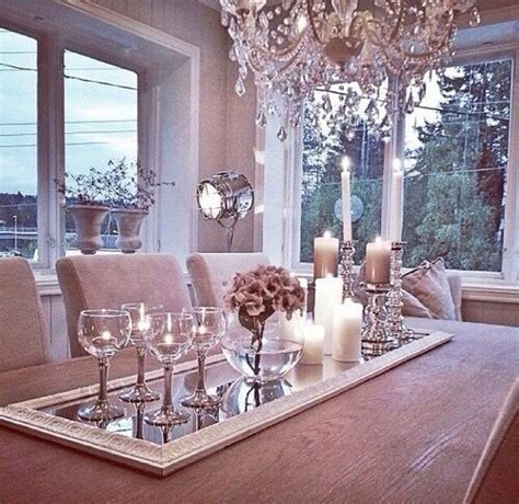dining room table decorations ideas the idea of incorporating a mirror for a centerpiece