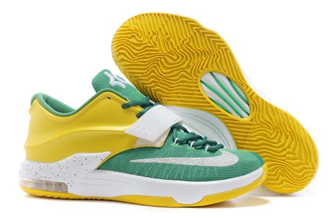 green yellow basketball shoes original quality nike kevin durant 7 green yellow white