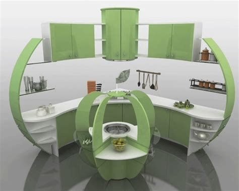 Modern Kitchen Decor Accessories Green Apple Kitchen Design And Decoration Theme White And Green Kitchen Paint Colors