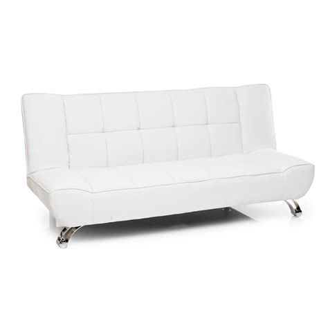 white faux leather loveseat vogue faux leather sofa bed in white catosfera net