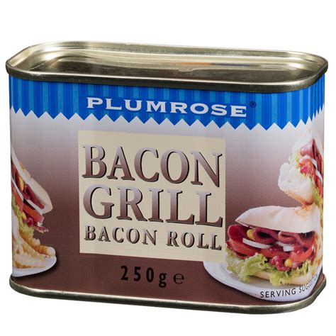 Bacon Grillé by Plumrose Bacon Grill Bacon Roll 250g Tinned Groceries