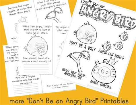 Dont Be An Angry Bird Lessons On Anger Management For | quot don t be an angry bird quot printables to work on managing