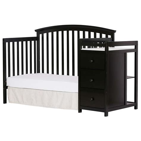 5 In 1 Baby Crib On Me Niko 5 In 1 Convertible Crib With Changer In Black 656 K