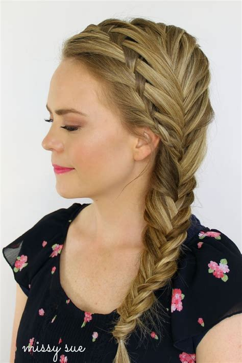 5 double fishtail braids braid love pinterest teen waterfall and fishtail french braids beauty hair braid