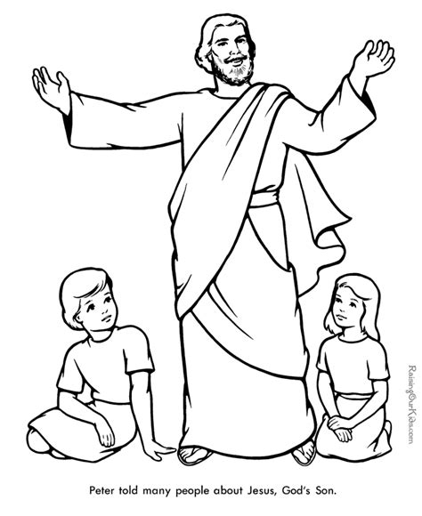 printable coloring pages bible peter bible page to print and color 025
