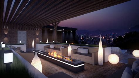 terrasse design eclairage terrasse maison