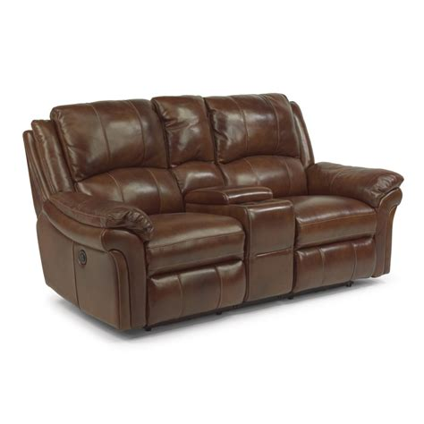 Flexsteel Reclining Loveseat by Flexsteel 1351 604p Dandridge Leather Power Reclining