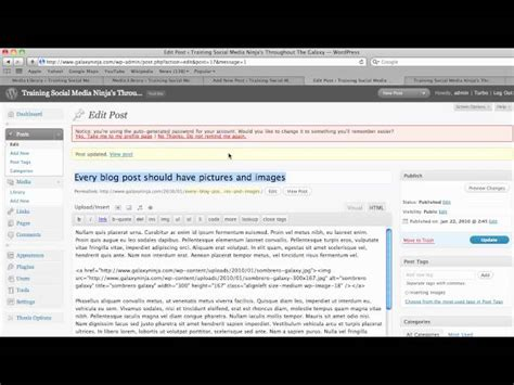 wordpress tutorial non blog wordpress tutorials how to add images to the body of your