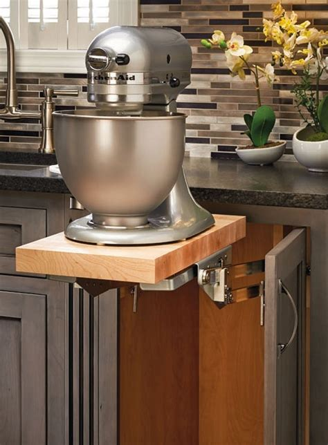 kitchen cabinet mixer lift space saving solution with heavy duty lift system