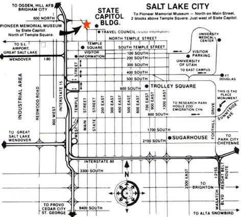 map of salt lake city streets downtown salt lake city streets images
