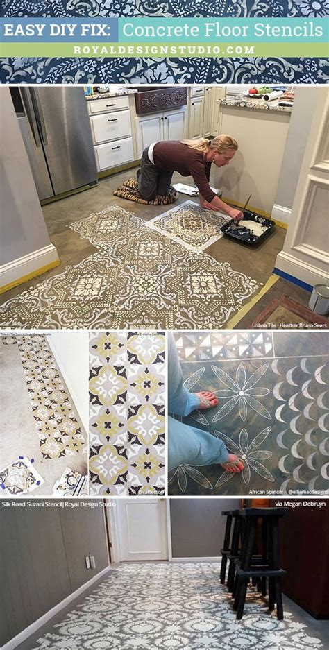 Easy DIY Fix: Concrete Floor Stencils for Painting and