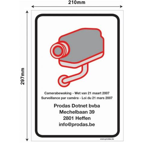 Sticker Camerabewaking Bestellen by Prodas Camerabewaking Sticker Of Plaat Camerabewaking