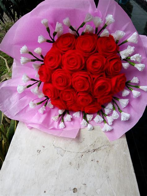 cara buat bunga dari kertas hvs membuat prakarya bunga dari kertas krep untuk anak sd