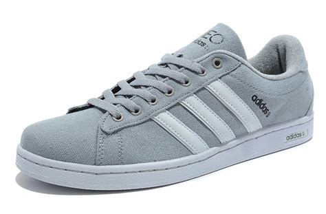 exclusive adidas c neo canvas shoes gray white best choice
