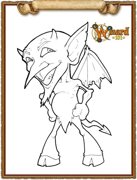 wizard101 media colouring pages